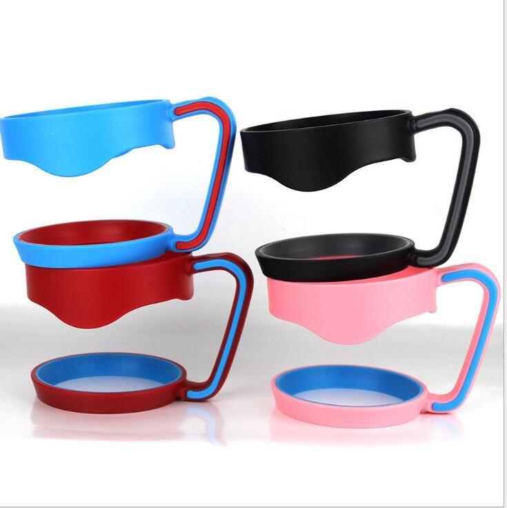 Taza de plástico portátil mango de la mano titular tazas taza negra titular para 20 oz 30 oz copas mango senderismo Gadgets al aire libre