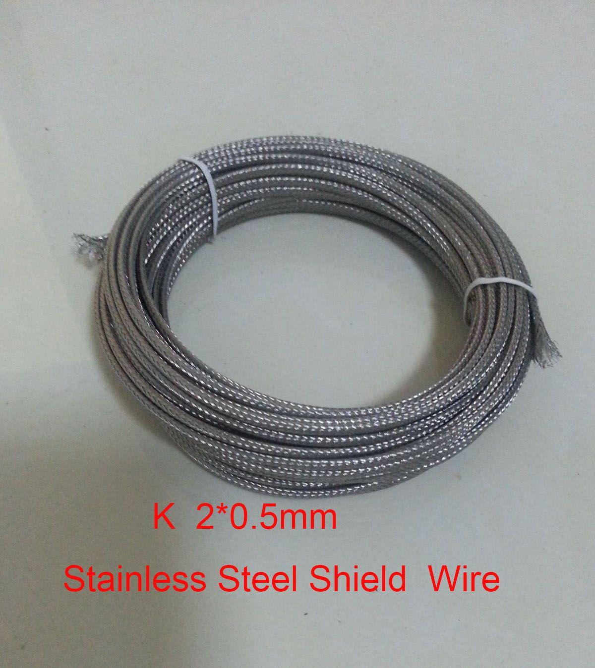 10 Meters2*0.5mm K Type Fiberglass Coated Stainless Steel Shield ...