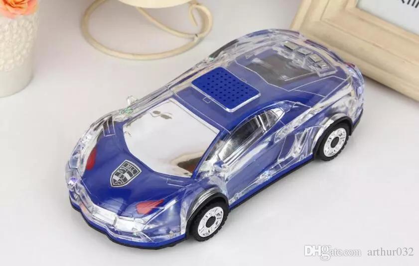 Tragbare Bluetooth Wieless Lautsprecher Bunte Kristall LED-Licht Mini Auto Form Verstärker Lautsprecher Unterstützung TF FM MP3 Musik-Player MLL-63