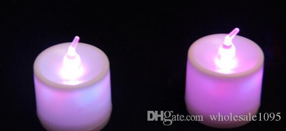 DHL libero bello disegno principale 7 cambiamento di colore tremolante candele senza fiamma Tealight luce decorazione della festa nuziale lampada di Natale