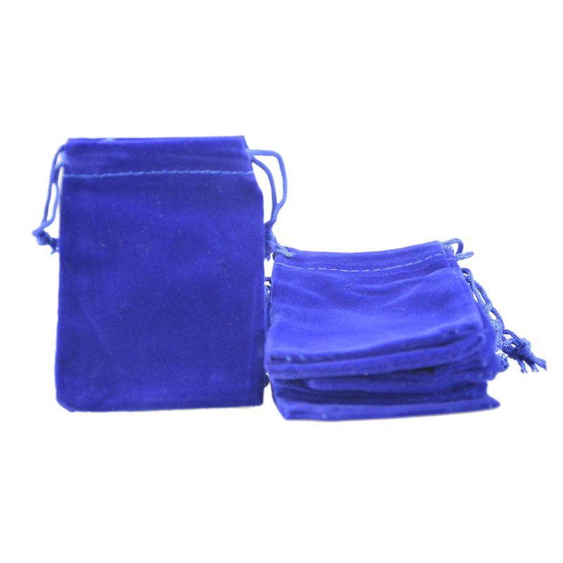 Sacos de jóias de veludo sacos de cordão bolsa de jóias apto para colar pulseira brinco pacote de presente 7x9 cm 2.7''x3.5 ''