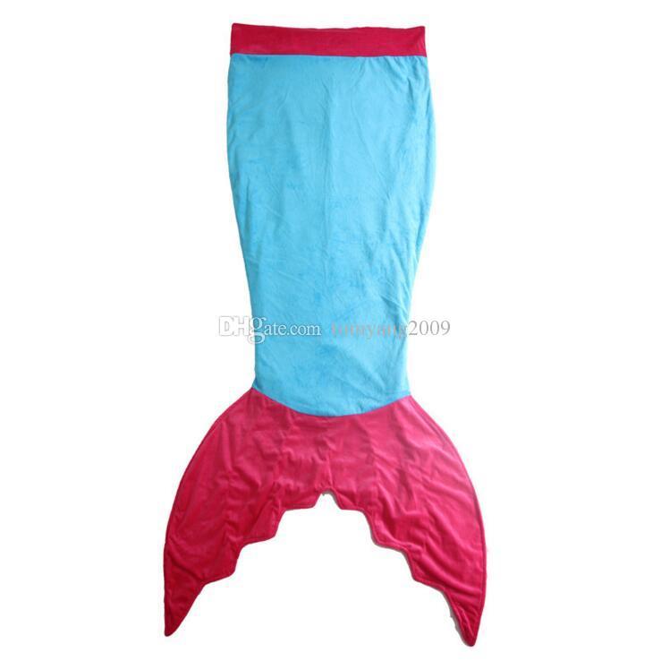 140 см Русалка хвост одеяла детские мультфильм одеяло девушки Русалка одеяло двойной слой детская кроватка Одеяло для детей