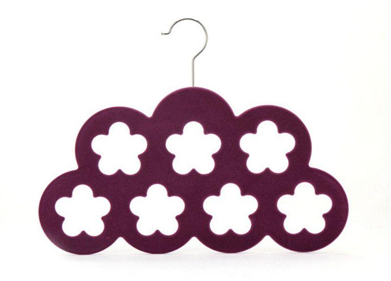 Funcional 2016 Nuevo estilo Pulm Velvet Hanger para bufanda cinturón corbata clave joyería uso en Home Store Supermaket