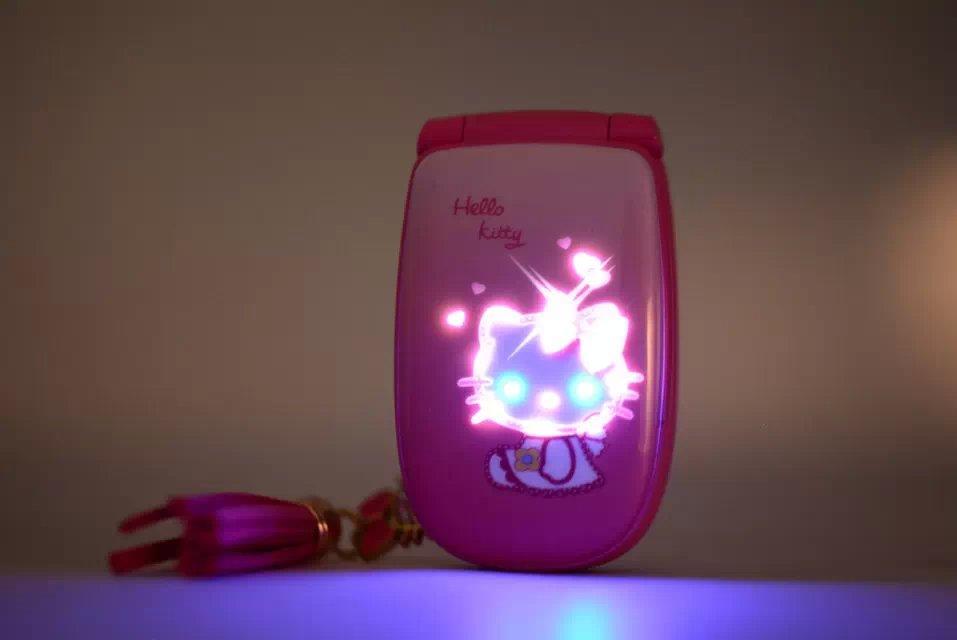 NEW Unlocked Fashion cute cartoon hellokitty mobile phone for women kids girls diamond Bluetooth MP3 mini Quad Band cell phone cellphone