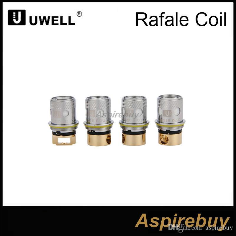 100% подлинный Uwell Рафаль глава замена катушки 0,1 Ом 0,2 Ом 0,5 Ом Ni200 SUS316 подходят Uwell бака Рафаль