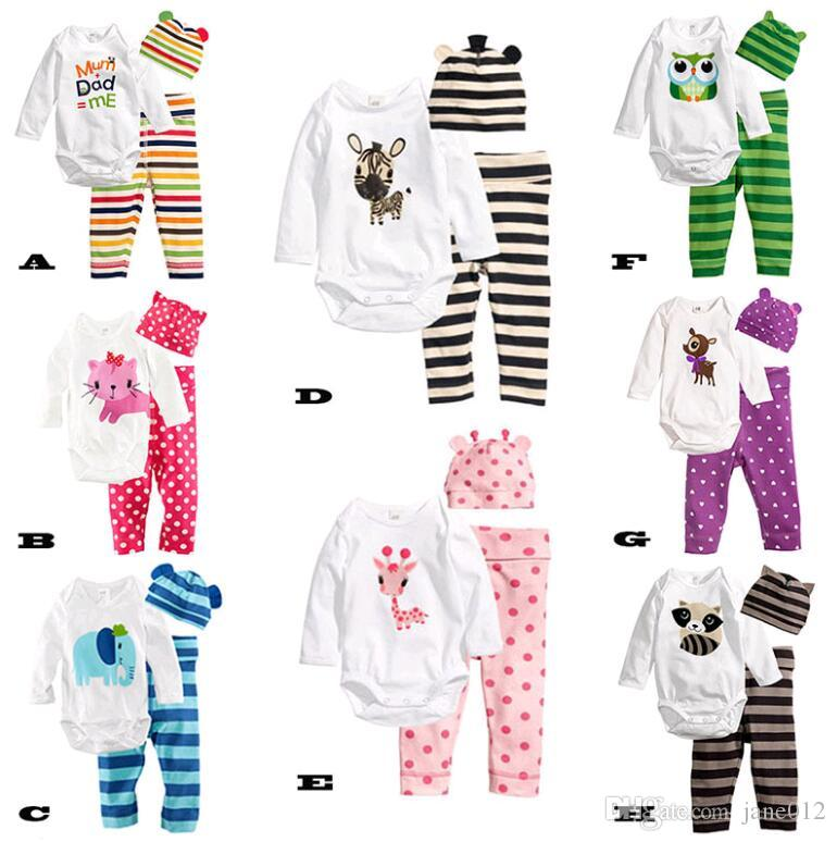 315bbf95d 2019 Cartoon Infant Clothes Baby Clothing Set Children Suits Long Sleeve  Strip Animal Pattern Baby Girls Kids Clothes 2016 Autumn Wholesale From  Jane012, ...