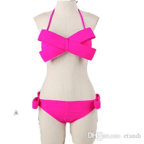 High quality New Fashion sexy Big Bowknot Girl Bikini Women Underwire Cute Bow swimsuit Hot Beach Bathing suit