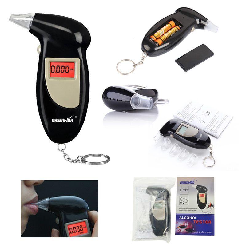 Schnelle Reaktion Professionelle LCD Alkohol Tester Digitale Alkohol-detektor Alkoholtester 2016 Polizei Alcotester Hintergrundbeleuchtung Display kostenloser versand