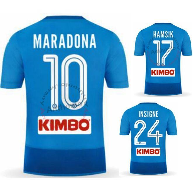 2017/18 NAPOLI NAPLES MAGLIA MARADONA HAMSIK INSIGNE MILIK MERTENS  Camisetas Futbol Camisa Futebol Football Kit Uniform Football Shirt Napoli  Jersey Napoli ...