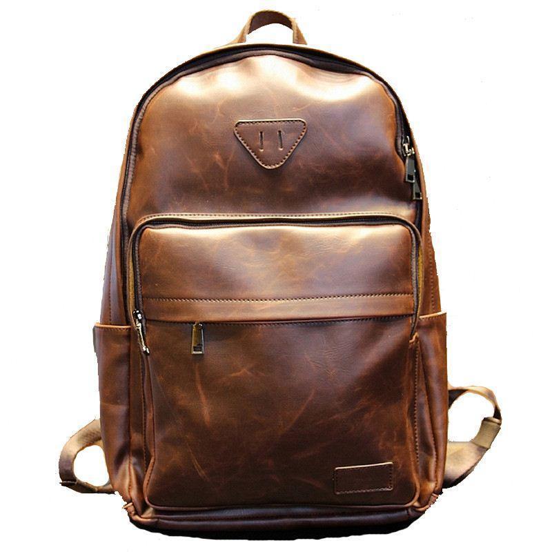 Sale Designer Fashion Pu Leather Men€S Backpacks Preppy Style ...