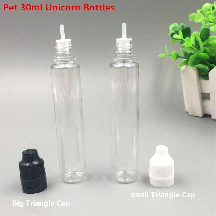 Botella Botellas Liquid E E Cigs estilo de lápiz delgada larga de 30 ml PE botellas de PET gotero con botellas a prueba de niños de sabotaje Botella eJuice por DHL