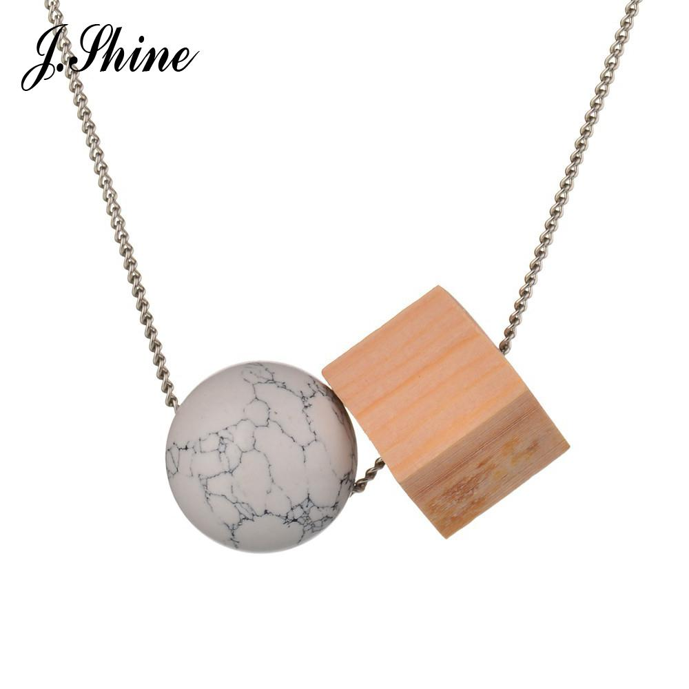Wholesale wholesale big brand design white round stone square wood wholesale wholesale big brand design white round stone square wood long pendant jewelry necklaces pendants 2017 mix match christmas best gift heart shaped aloadofball Choice Image