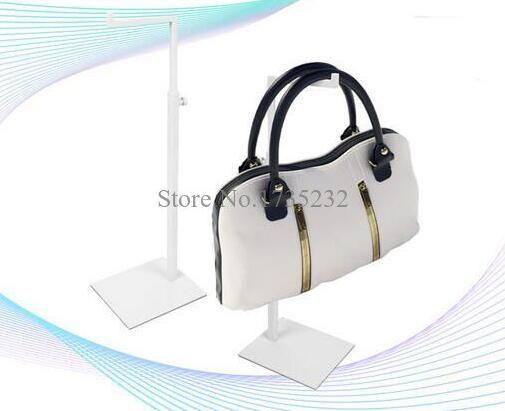 Höhenverstellbar aus Metall HandtascheTasche Ständer Weiß Frauen Handtasche Geldbörse Display Rack Halter Ständer Tasche Halter Rack