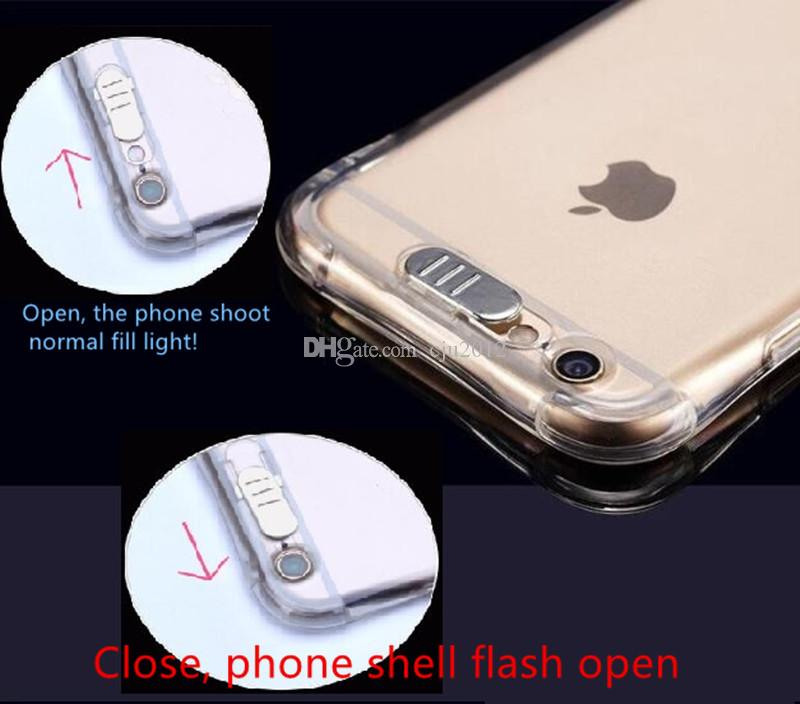 Calling Light Up Case For Iphone 8 7 6 Plus Ultra Thin TPU LED Flashing Lighting Incoming Reminder Phone Cover For Samsung S8 S7 Note