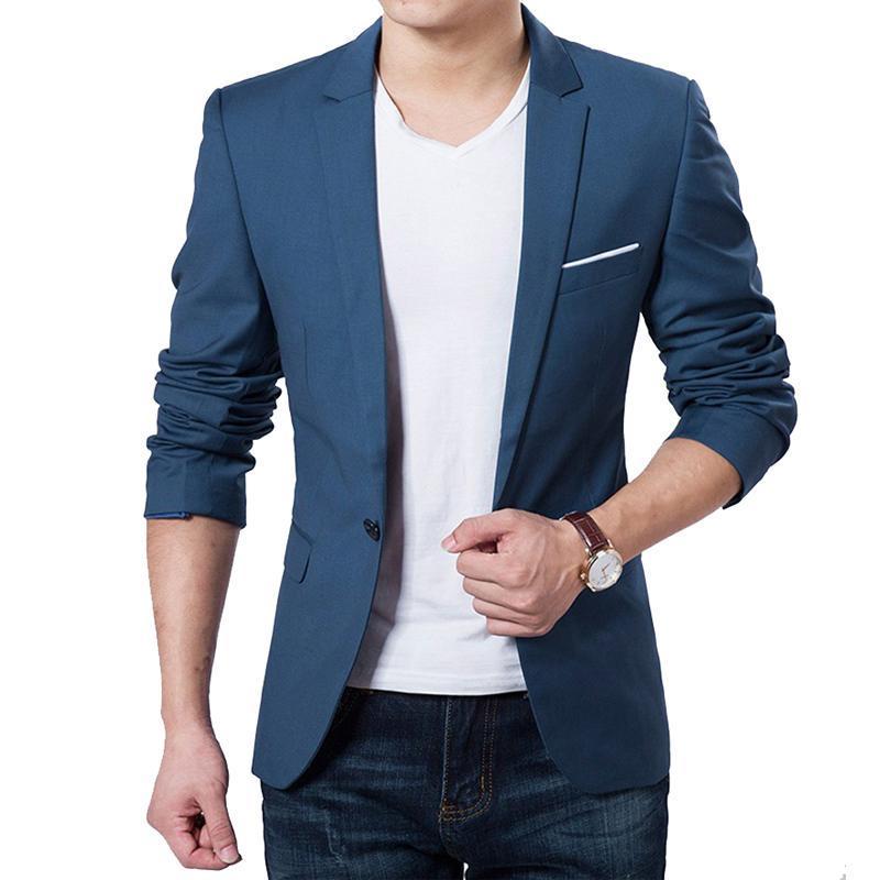 Nouvelle Arrivée Blazer Hommes Jaqueta Masculina Terno Musculino Jaqueta Costumes De Mariage pour Hommes Blazers Bleu beau nouveau style de mode de conception