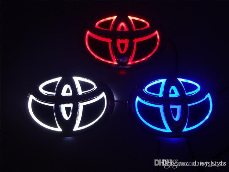 Led Car Logos For Toyota Front Rear 5d Car Led Logos Car Emblems