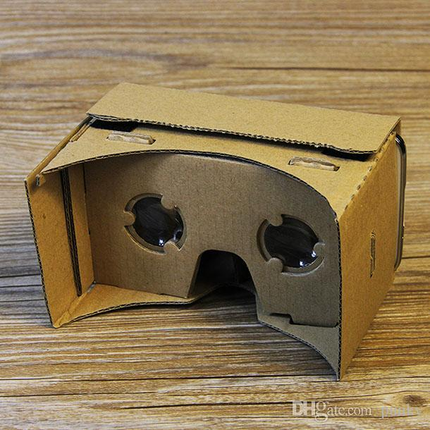 Google Vr 3d Glasses Diy Google Cardboard Virtual Reality Vr Mobile Phone 3d Viewing Glasses For 5 0 Screen Free Shipping