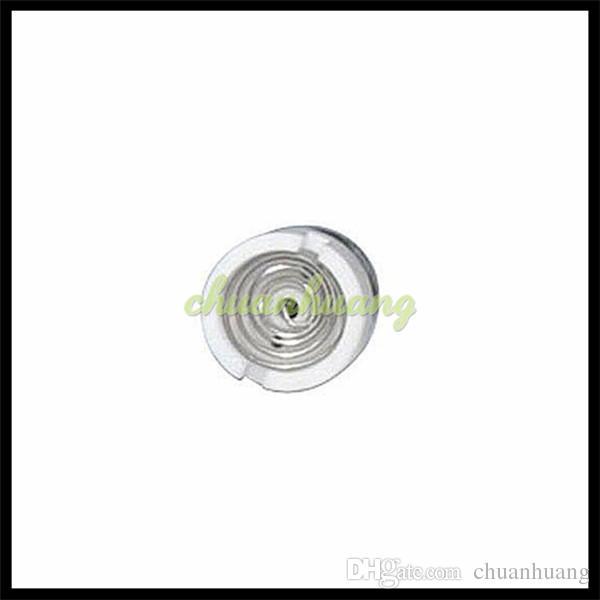 Dual Wax Coils Glass Globe Atomizer dual coils Ceramic Quartz Cotton Quartz Pancake Coil Head for glass globe Vapor glass globe bulb ecigs