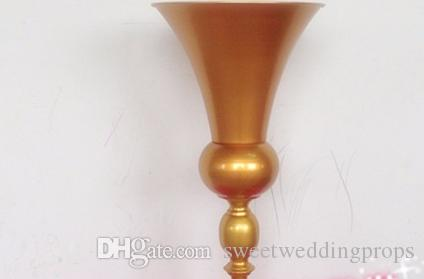 Yeni stil Altın Düğün centerpiece Düğün çiçek vazo Düğün dekorasyon 10 adet / grup