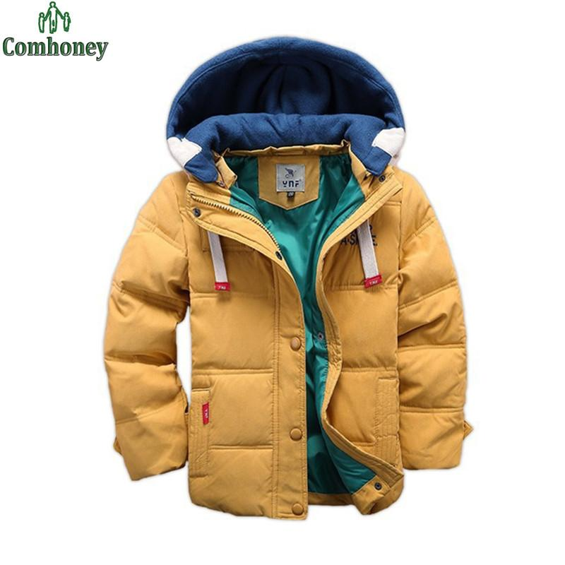 62fe2340ba4 Children Winter Jackets For Boys Snowsuit Down Jackets For Boys Clothing  Parka Kids Hooded Outerwear School Teenage Winter Coats
