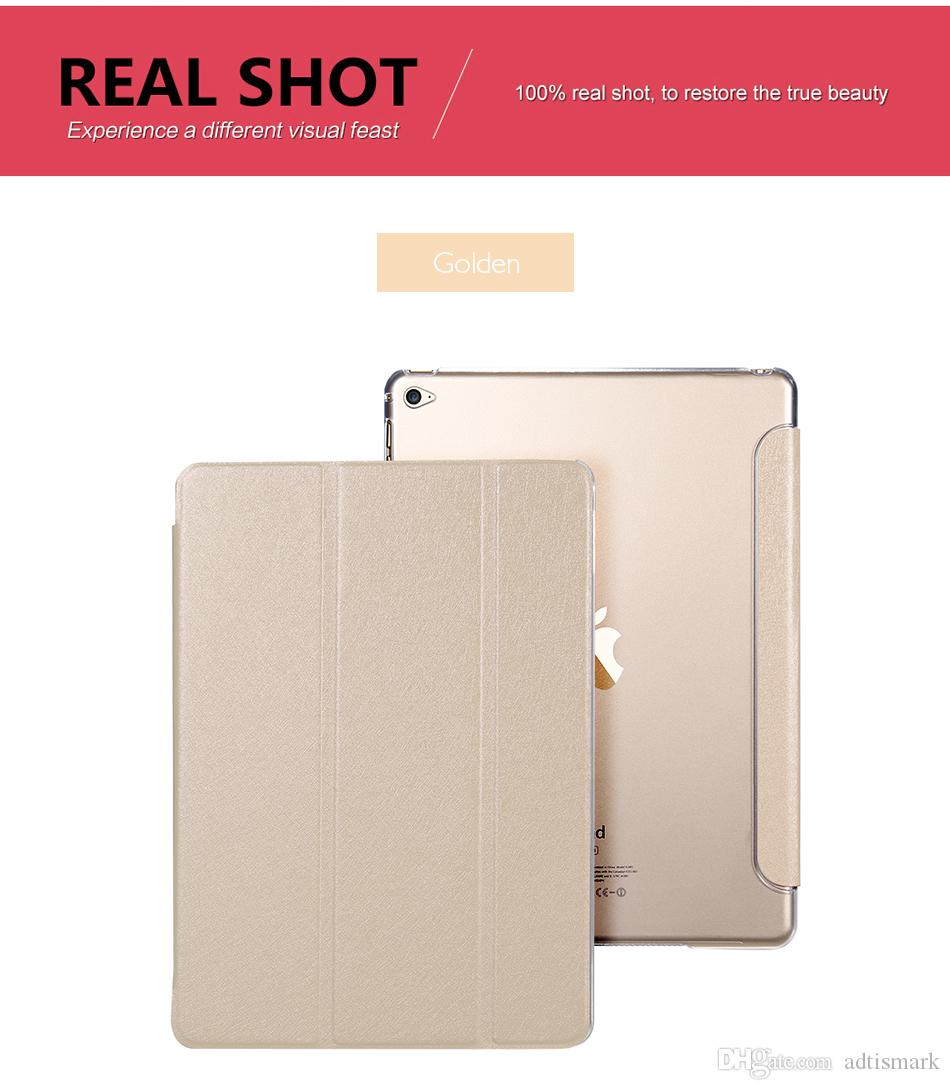 Nueva funda de cuero para Apple Air 2 Funda para PC de la tableta Accesorios inteligentes Funda de lujo para Apple Pad 2 3 4 mini 4 Funda para pro 9.7