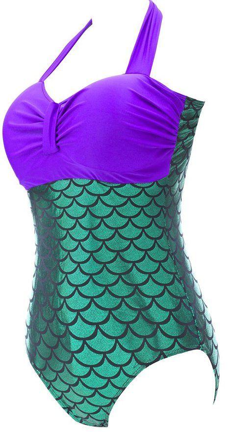 إمرأة حار PLUS الحجم Monokini ملابس من قطعة واحدة ثوب السباحة لحورية البحر تأثيري مقياس السمك بيكيني ملابس السباحة شاطئ الاستحمام ملابس SW391