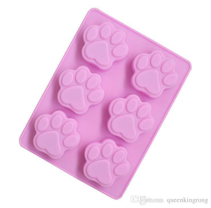 Silikon Kek Kalıp sabun Kalıp Pişirme Kalıp Kedi Paw Silikon Kalıpları Kek Dekorasyon araçları mutfak aracı aksesuarları