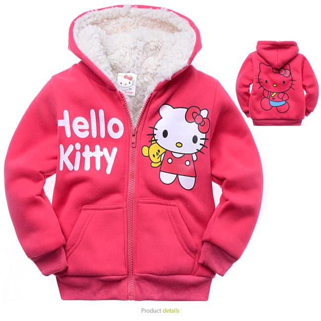 ef7a317ad 2018 Wholesale 2016 Baby Girls Children Outerwear Hello Kitty Coat ...