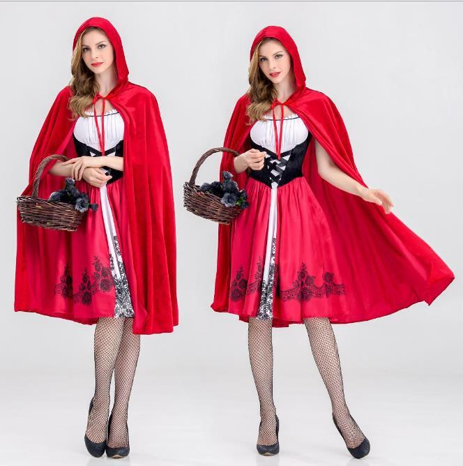 Dreamgirl Women S Little Red Riding Hood Costume Halloween Cosplay Costume  Adult Sexy Women Little Red Riding Hat Funny Group Costumes Biblical  Costumes ... e5800cca4f