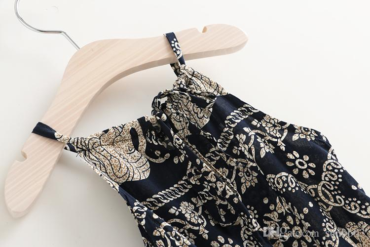 Summer Europe Fashion Girls Set di abbigliamento vintage Bambini Irregolare Elefante floreale Sun-top + Pantaloni Bambini 2 pezzi Abiti Abiti 11980