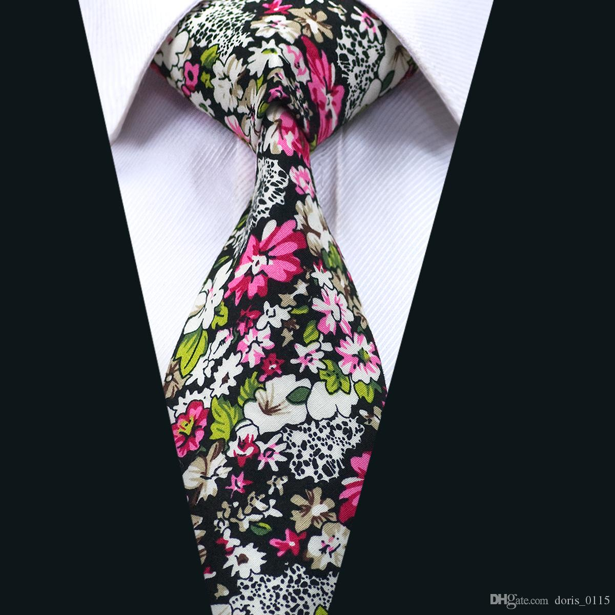 3ad4c4ee5ac6 Tie Floral Cotton Mens Neckties Colorful Men Ties With High Quality For  Business Wedding Party Gift D 1321 Ties Online Purple Bow Tie From  Doris_0115, ...