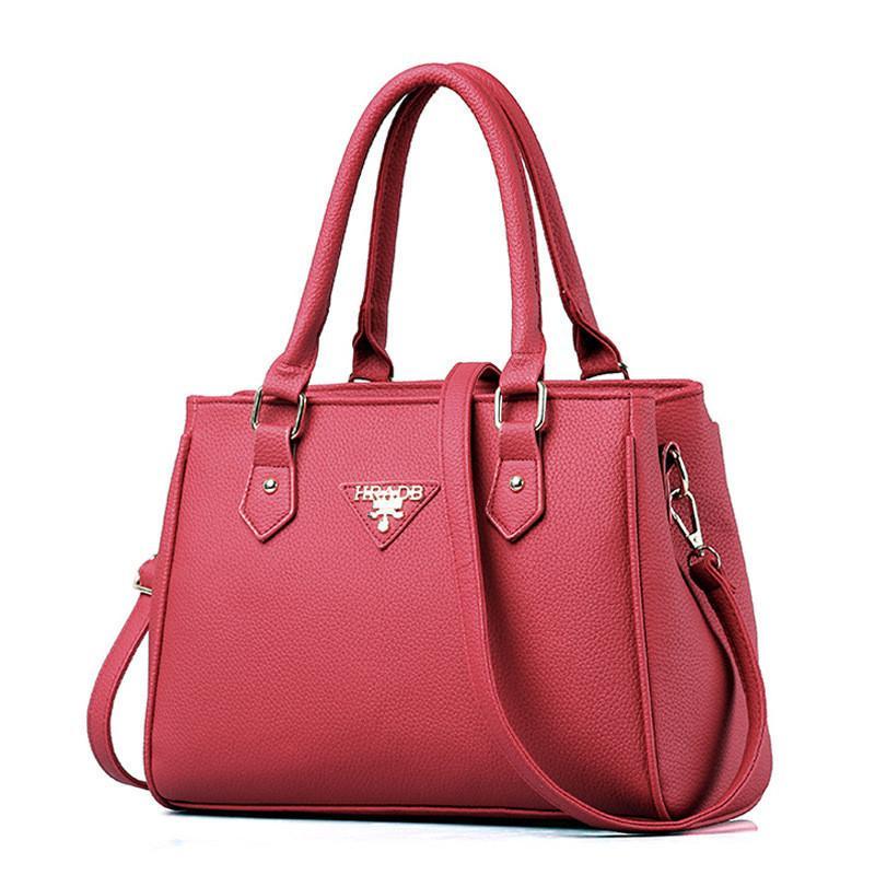 6971e94f00 Acquista Borsa Donna Moda 2016 Luxury Designer Famoso Marchio PU Borse In  Pelle Vintage Messenger Borse Casual Crossbody Nero Blu A $47.81 Dal ...