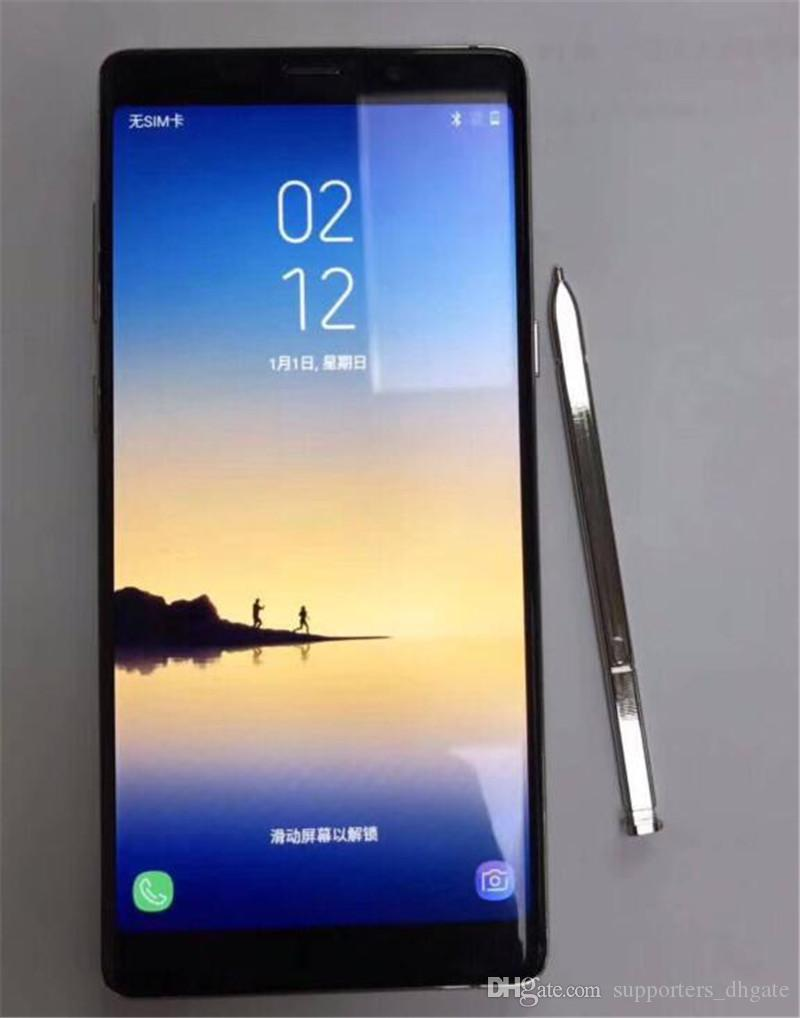 Goophone note8 android 6.0 smartphone NOTE 8 6.3 inch HD 64bit MTK6580 Quad core cell phones 1gb RAM 8gb ROM show fake 4g lte 64gb free DHL