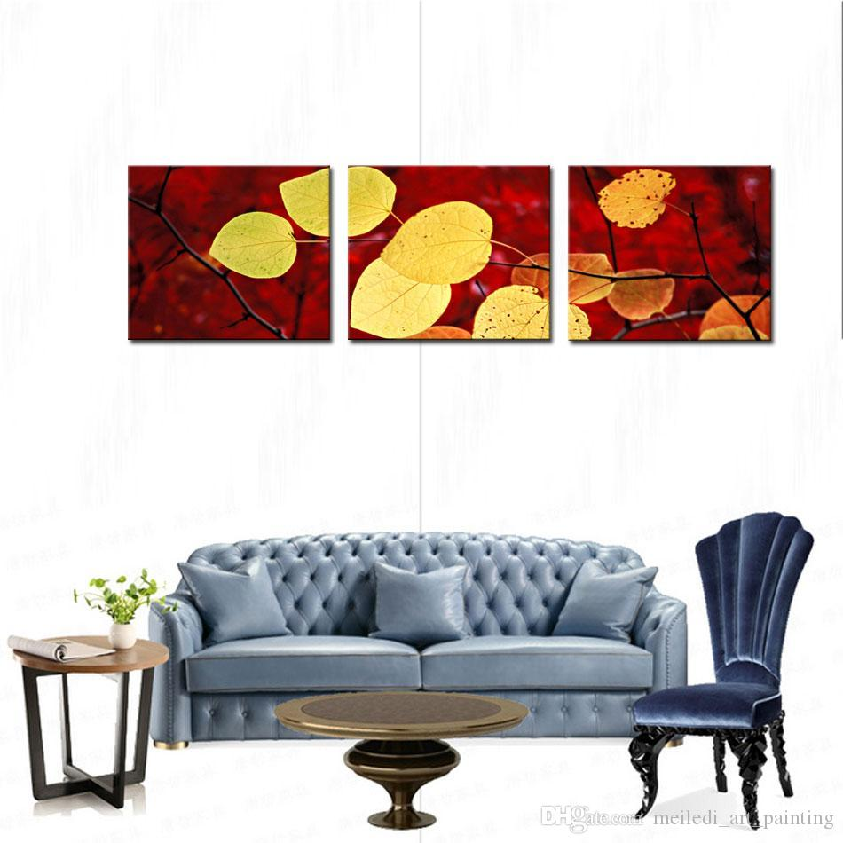2018 Art Fallen Leaves Canvas Prints Modern Wall Art Paintings ...