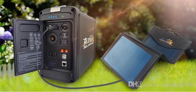 Solar Backup Power Kit5V / 12V / 110V-220V / 500W Panel aus Rasterfeld führte iphone USB-Batterie System 500W