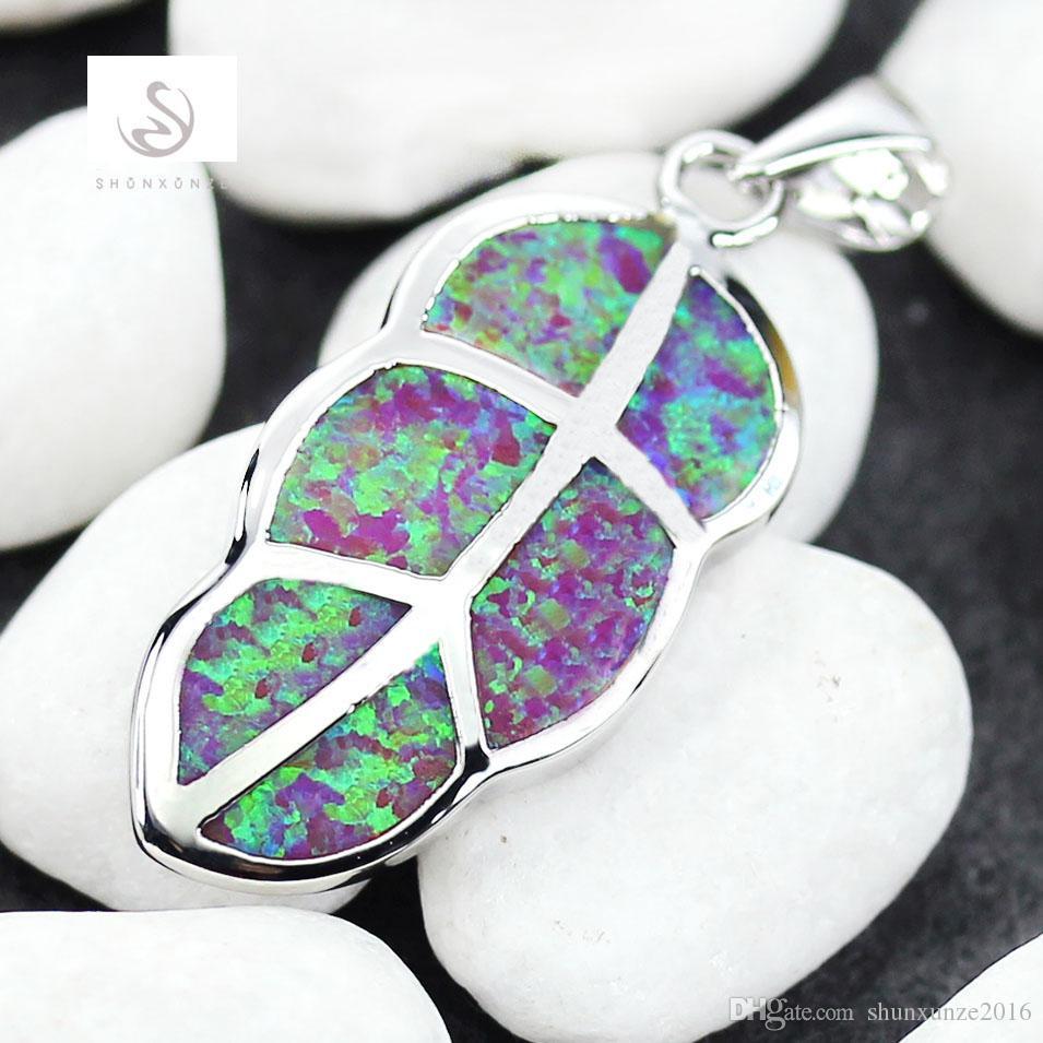 Kupfer Rhodium Plated Cute Herz gesetzt Ohrring / Anhänger Pink Opal Edle Großzügige MNSz # 6 7 8 9 Lieblings Bestseller Neuankömmlinge