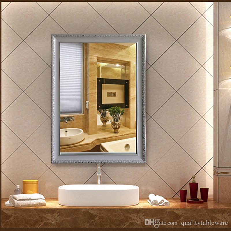 borders for bathroom mirrors modern hotel bathroom mirror frame makeup mirror wooden 17488