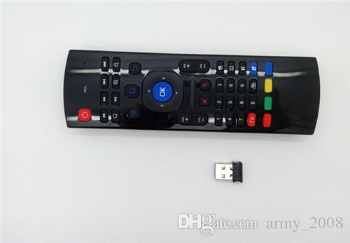 X8 Mini Teclado 2.4 GHz Controle Remoto Sem Fio MX3 Somatosensory IR Aprendizagem 6 Eixos sem Mic 3D Air Fly Mouse para Android TV caixa