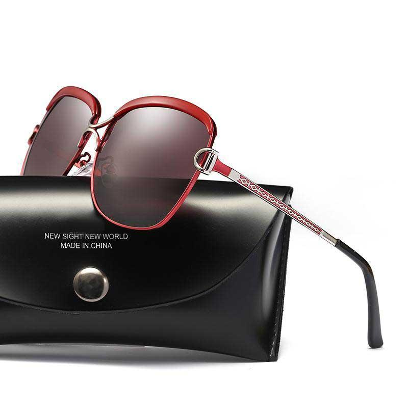 Compre Gafas De Sol De Diseñador Para Mujeres Con Color Polarizado Moda De  Lujo De Vidrio Marca Gafas De Sol Trend Gafas De Sol Coreanas Con Marco  Grande A ... e0eca143678a