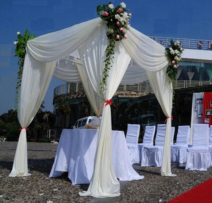 3*6m Wedding Party Stage Celebration Background Satin Curtain Drape Pillar Ceiling Backdrop Marriage decoration Veil WT016