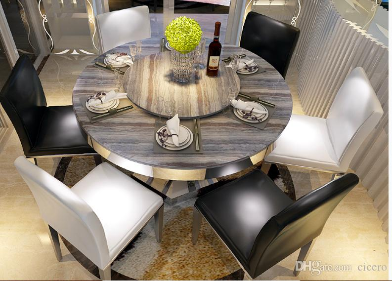 2019 Sea Shipping Marble Dining Table Set 6 Chairs Lead Time 7