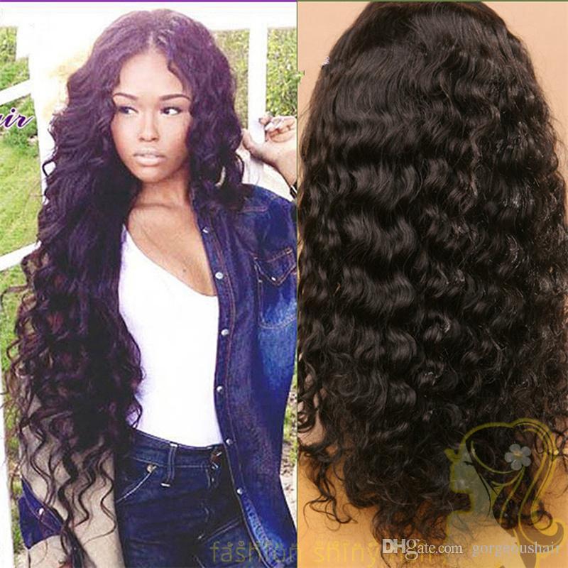 Parrucche anteriori brasiliane del merletto dei capelli le parrucche lunghe lunghe del pizzo di Glueless dell'onda di acqua delle donne nere 130% nodi candeggiati di densità