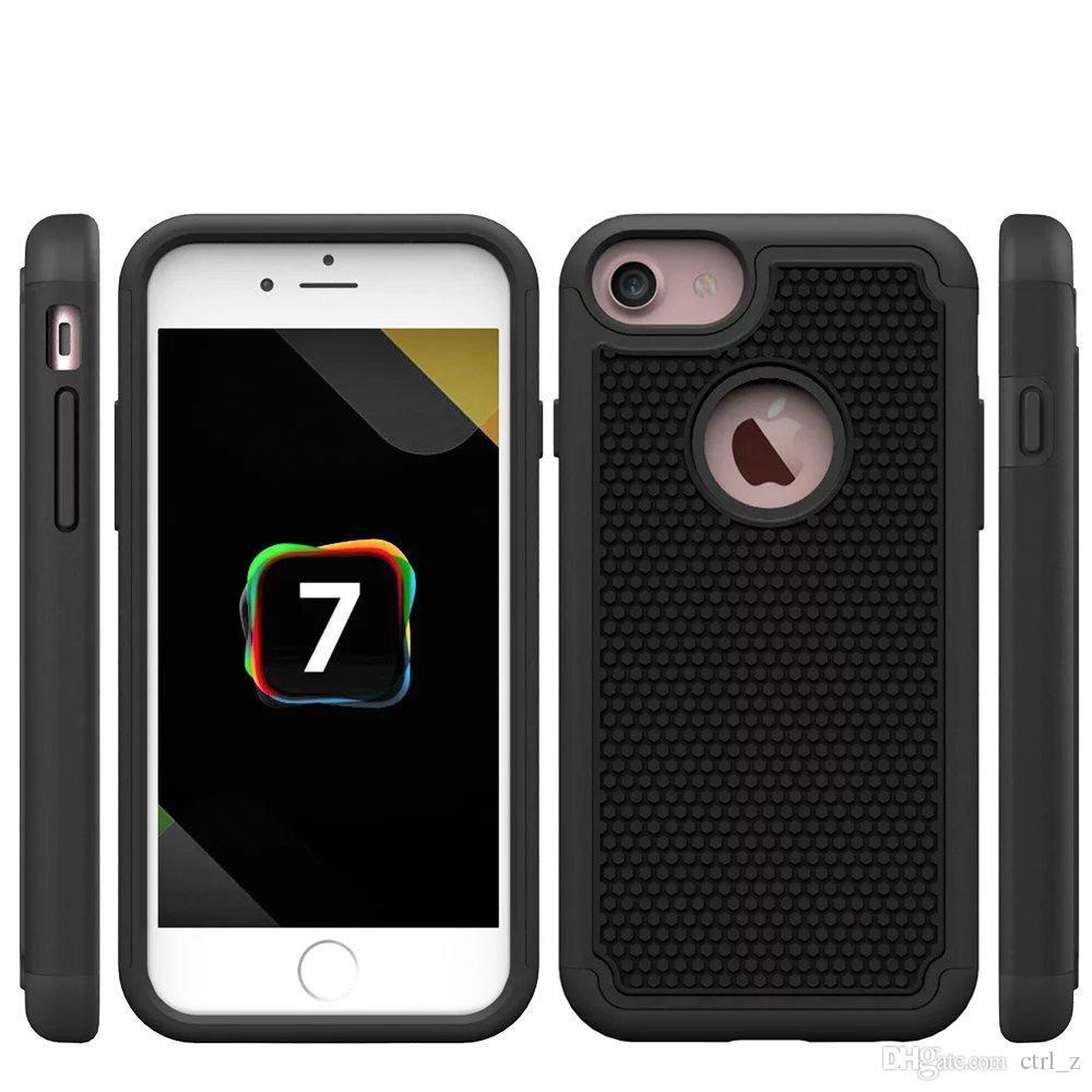Iphone 7 için artı Sağlam Hibrit 3 in 1 Futbol Cilt Kauçuk Balistik Kapak Sert Plastik Kılıf