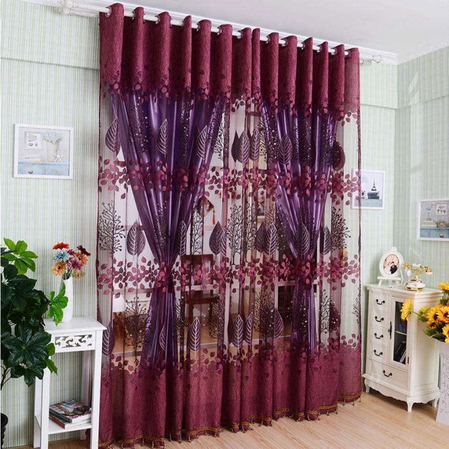 Acheter Rideaux De Luxe Pour Le Salon Moderne Feuille Chambre Floral ...
