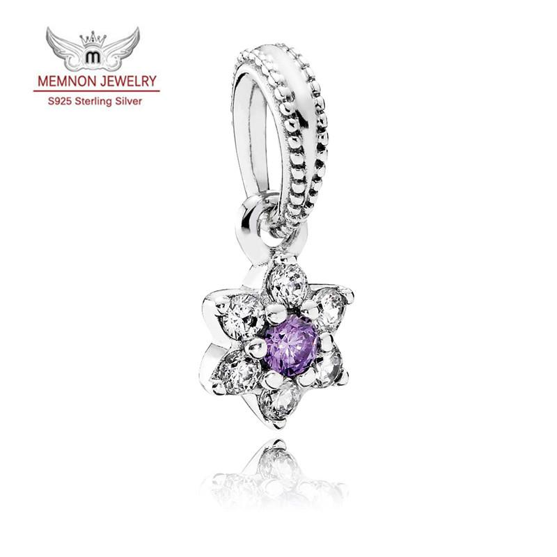 63fc2de67 2019 Forget Me Not Charm Pendant 925 Sterling Silver With CZ Dangle Flower  Fit Beads Barcelet Necklace Diy 2016 Spring Memnon Fine Jewelry DA166 From  ...