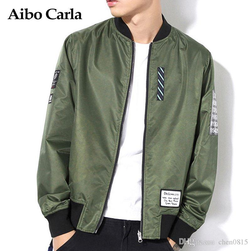 7f6d884e20e6cb Mens Reversible Bomber Jacket Men Pilot Military Army Green Embroidery  Jackets Men Baseball Coat Fashion 2017 Brand Camouflage Outerwear Bomber  Jackets From ...