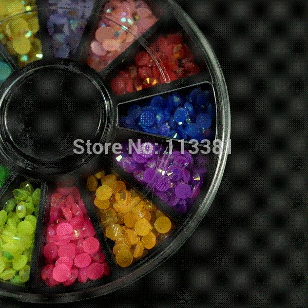 10 unids / lote Mix Jelly AB Colors 3 MM Resina Flatback Beads 3D Nail Art Jewelry DIY Crafts Mobile Case decoración apliques Scrapbooking