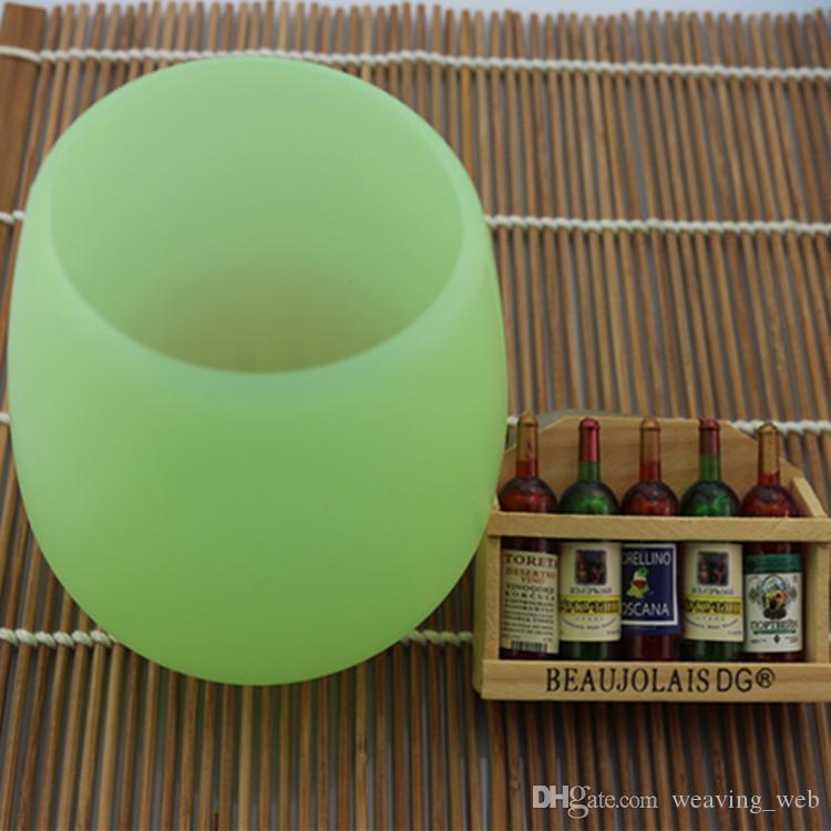 Presentes para crianças 13 oz Copos de Vinho Silicone Copos De Vinho Multicolors Stemless Wine Cup Canecas de Cerveja Inquebrável vs Verdadeiro Norte