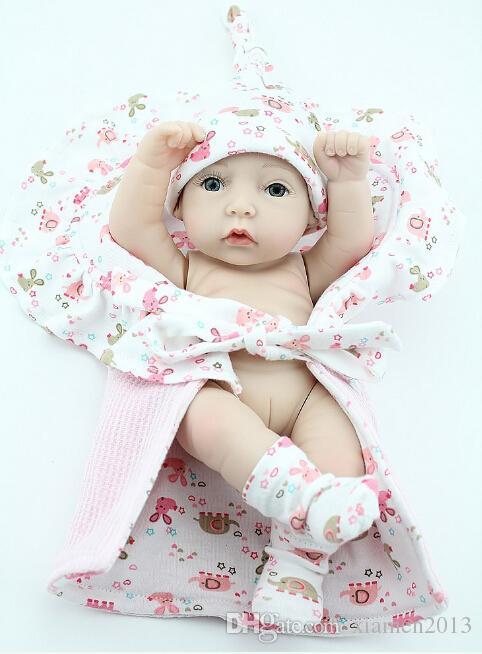 Toptan-Yeni Bebek Silikon S / Moda Reborn Bebekler Bebekler Gerçekçi 12