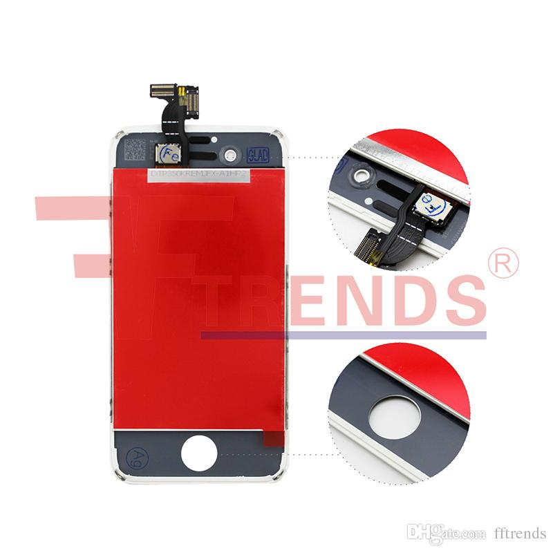 for iPhone 4 4S LCD Display & Touch Screen Digitizer Full Assembly Replacement Repair Parts Black White